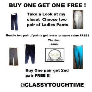 Buy one Pair get one pair FREE   Ladies Pants
